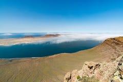Visión desde el del Río, Lanzarote, España de Mirador Imagen de archivo