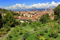 Visión desde el delle Rose de Giardino en Florencia, Italia Imagen de archivo