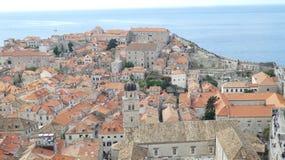 Visión desde el Dubrovnik viejo fotografía de archivo libre de regalías