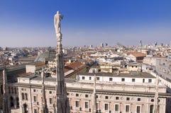 Visión desde el Duomo, Milano Imágenes de archivo libres de regalías