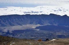 Visión desde el EL Teide del volcán. Imagenes de archivo