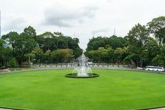 Visión desde el frente del palacio de la independencia Fotografía de archivo libre de regalías