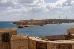 Visión desde el fuerte St Elmo Fotografía de archivo libre de regalías