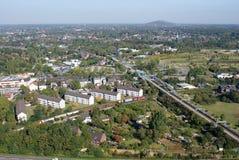 Visión desde el gasómetro en Oberhausen foto de archivo