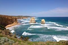 Visión desde el gran camino en Victoria, Australia del océano Fotos de archivo libres de regalías