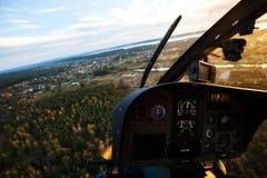 Visión desde el helicóptero imagen de archivo