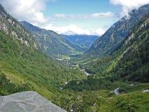 Visión desde el hochalpstrasse del grossglockner en Austria Foto de archivo