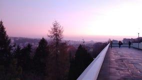 Visión desde el hotel de Corinthia en Praga, Czechia imagenes de archivo