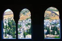 Visión desde el La Alhambra Foto de archivo libre de regalías