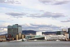 Visión desde el mar a Oslo y al fiordo de Oslo noruega foto de archivo libre de regalías