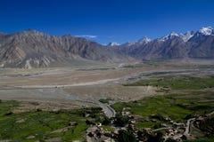 Visión desde el monasterio de Karsha foto de archivo libre de regalías