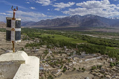 Visión desde el monasterio de Thiksey, Ladakh Fotografía de archivo