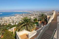 Visión desde el montaje Carmel a Haifa en Israel Imágenes de archivo libres de regalías