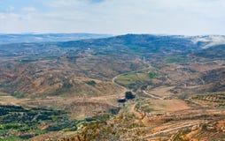 Visión desde el montaje Nebo en Jordania Imagen de archivo