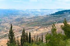 Visión desde el montaje Nebo en Jordania 3 Imágenes de archivo libres de regalías