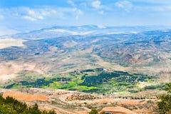 Visión desde el montaje Nebo en Jordania 6 Imagen de archivo