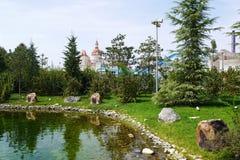 Visión desde el parque Adventureland de Sochi en Adler, Rusia Imagen de archivo libre de regalías