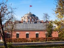 visión desde el parque de palacio que viaja de Petrovsky foto de archivo libre de regalías