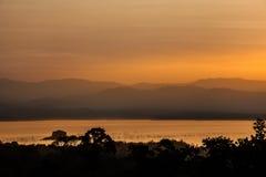 Visión desde el parque nacional de Khuean Srinagarindra, Kanchanaburi Foto de archivo