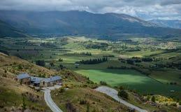 Visión desde el pico de la corona, Nueva Zelanda. fotografía de archivo libre de regalías