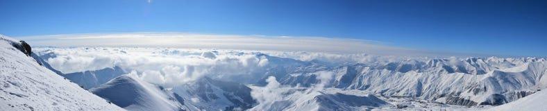 Visión desde el pico de montaña Fotografía de archivo
