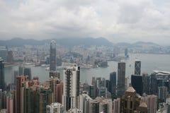 Visión desde el pico en Hong Kong Foto de archivo