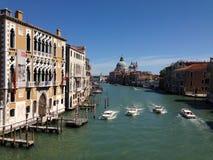 Visión desde el puente de Accademia imágenes de archivo libres de regalías