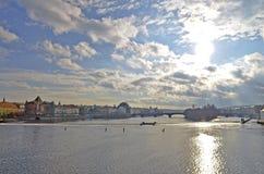 Visión desde el puente de Charles de Praga Imagenes de archivo