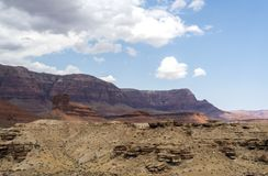 Visión desde el puente de Navajo, barranco de mármol Hwy 89 Fotografía de archivo libre de regalías