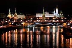 Visión desde el puente de Patriarshy, Moscú, Rusia Foto de archivo