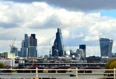 Visión desde el puente de Waterloo Fotografía de archivo libre de regalías