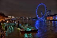 Visión desde el puente de Westminster en el twighlight, Londres Imagenes de archivo