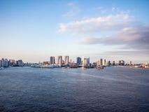 Visión desde el puente del arco iris, Tokio, Japón, ruta del norte foto de archivo