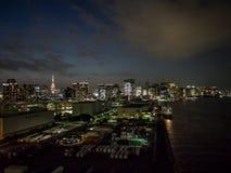 Visión desde el puente del arco iris, Tokio, Japón, ruta del norte foto de archivo libre de regalías