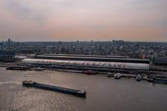 Visión desde el puesto de observación de Amsterdam sobre Amsterdam Fotos de archivo libres de regalías