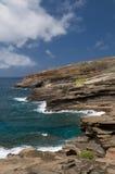 Visión desde el puesto de observación de Lanai, Oahu del este, Hawaii Imagen de archivo