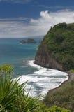 Visión desde el puesto de observación de Pololu, isla grande, Hawaii Foto de archivo