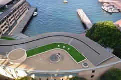 Visión desde el puesto de observación del pilón en Sydney Harbour ABRIGUE EL PUENTE S Foto de archivo libre de regalías