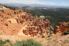 Visión desde el punto de Ponderosa en Bryce Canyon National Park Foto de archivo libre de regalías
