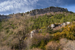 Visión desde el reguge Sant Jorge. Cadí, España. Imagen de archivo