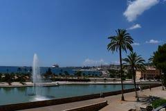 Visión desde el santo Maria Palma de Mallorca de la catedral Foto de archivo libre de regalías
