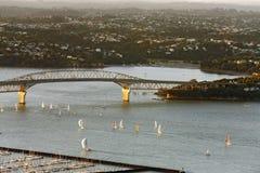 Visión desde el skytower, Nueva Zelandia Imagen de archivo libre de regalías