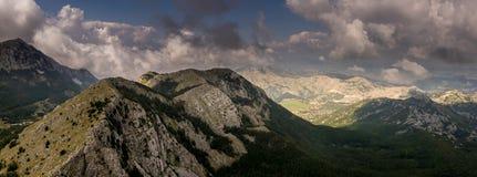 Visión desde el soporte Lovcen en Montenegro foto de archivo libre de regalías