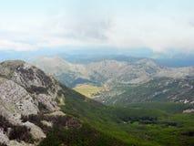 Visión desde el soporte Lovcen, Montenegro Imagen de archivo libre de regalías