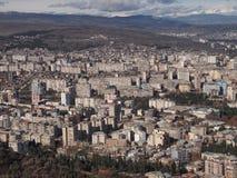 Visión desde el soporte Mtatsminda sobre Tbilisi (Georgia) Foto de archivo