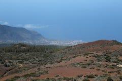 Visión desde el soporte Teide Foto de archivo libre de regalías