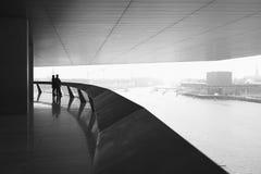 Visión desde el teatro de la ópera de Copenhague Fotografía de archivo