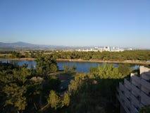 Visión desde el tejado del hotel en Turquía fotografía de archivo