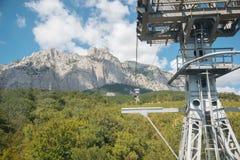 Visión desde el teleférico al top del soporte AI-Petri Imagen de archivo libre de regalías