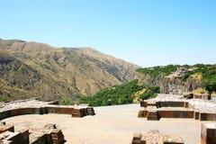Visión desde el templo de Garni Fotos de archivo